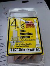 "4js post mounting system 3 1/2"" Soft Maple- Newel Kit #01441"