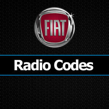 Fiat Radio Code tous les modèles A2C Continental Stéréo PIN unlock | Service Rapide
