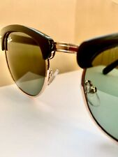 RAYBAN CLUBMASTER - Black/Gold Frame CLASSIC Polar Green 51mm UV Protection