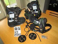 Mens Burton Snowboard Boots Bindings Size 9 Citizen Brand