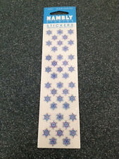 HAMBLY STUDIOS STICKERS CHRISTMAS SILVER SNOWFLAKES HOLIDAY GLITTERS SNOW FLAKES