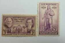 Us Scott 776-777-1936-3 Centtexas & Rhode Island-Purple-M/Nh/Og