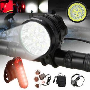 50000 Lm Bike Light Headlight Bicycle Lamp 15x XML T6 LED Headband Cycling Torch