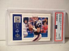2002 Upper Deck Tom Brady PSA Gem Mint 10 Football Card #58 NFL History