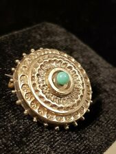 ANTIQUE VICTORIAN GOLD ETRUSCAN TARGET BROOCH / PIN
