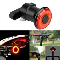Waterproof Bicycle Smart Brake Light LED USB Bike Rear Tail Light Z