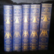 (1-5) A History of the United States James Truslow Adams ©1932-34 GreatCondition