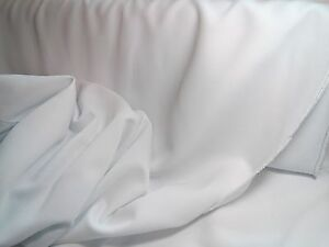Polyester 60 wide White Gabardine Fabric 30 Yards