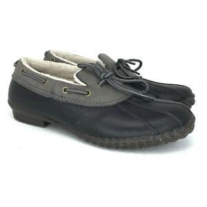 JBU By Jambu Womens Gwen JB17GWN91 Black Gray Duck Boots Round Toe Size 8.5 M