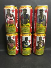 COCA COLA ALWAYS JAMMIN LIMITED EDITION COLLECTORS BASKETBALL CAN LOT OF 6