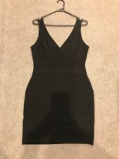 Forever New Black Bandage Dress Size 14 NEW