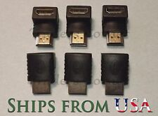 6PCS HDMI 90 Degree Male to Female Adapter for HDTV, Bluray, Cable/Sat Set Box