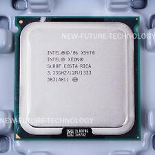 "Matched pair of Intel Xeon X5470 SLBBF CPU 3.33GHz LGA 771 +""FREE"" Thermal Paste"