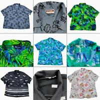 Lot 5 Womens Short Sleeve Button Up Shirts Size 4X Front Blouse Tops Floral Prin