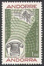 Andorra 1976 Teléfono/invenciones/ciencia/espacio/comunicaciones 1v (n41714)
