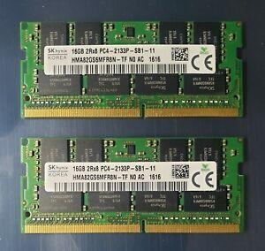 SK Hynix PC4-17000 PC4 2133P 32GB 2X16GB DDR4 2RX8 2133MHz 260pin Laptop Memory