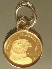 Pure Solid Gold Pendant *Wildlife Protection Saker Falcon* 750. - 999.9% Gold