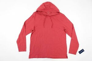 CLUB ROOM PALE RED LARGE LIGHT HOODIE SWEATER MENS NWT NEW