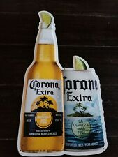 Corona extra Beer Tin Tacker Sign Bottle Can Lime Man Cave Bar Decor Shop