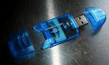 NUOVO SDHC READER Flash Lettore di schede USB 2.0 BLU Slimline lettore di schede flash SD MMC
