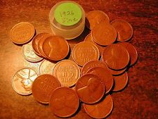 1926-P LINCOLN WHEAT CENT PENNY ROLL, all coins fine grade