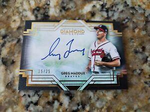 2021 Topps Diamond Icons Greg Maddux On Card Auto Autograph 15/25
