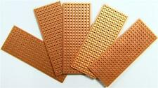 5 x 25x64mm Strip Board Printed Circuit PCB Vero Prototyping 9 Tracks by 25 Hole
