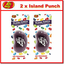 2 x Jelly Belly 3D Bean Hanging Car Air Freshener - Island Punch Scent