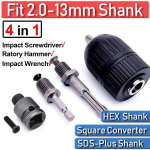 1x 13mm Black Keyless Power Drill Chuck Impact Driver Replacement For Makita DIY