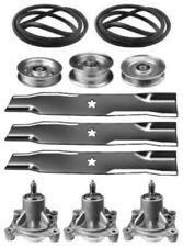 """Sears Craftsman GT5000 48"""" Mower Deck Rebuild Kit Spindles Blades Belt Idlers"""