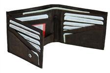 Brown Wallet Dark Mens Leather  Bifold New Credit Card Holder Genuine Free Ship