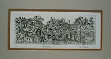 RUTH DAVEY - 'Homestead' - Fine Art Engraving - New Zealand - Circa 1990's