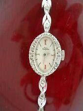 Paul Breguette Ladies Art Deco Diamond and 14k White Gold Watch