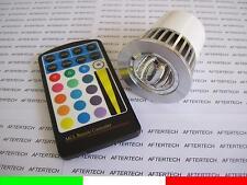 5w COB GU10 RGB LAMPADINA FARETTO SPOT CAMBIACOLORE 220v DICROICA + TELECOMANDO