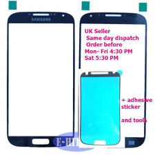Samsung Galaxy S4 i9500 Blue Lens Front Screen Outer Glass i9505 with adhesive