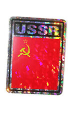 USSR OLD COUNTRY FLAG  METALLIC BUMPER STICKER DECAL .. 4 X 3 INCH