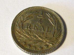 1900 1/4 reale Guatemala