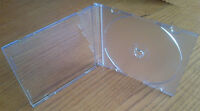 10 x Premium Quality Slimline Single CD DVD Jewel Cases Clear 5.2mm