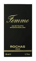 Rochas Femme Eau de Toilette Spray 1.7Oz/50ml New In Box (Vintage)
