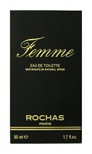 Rochas Femme Eau de Toilette Spray 1.7Oz/50ml New In Box (Vintage)
