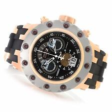 INVICTA RESERVE MENS SUBAQUA SPECIALTY CHRONO ROSE GOLD BLACK BAND WATCH 18553