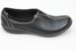 Clarks Womens Black Slip On Clog Comfort Shoes Size 7.5