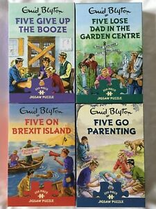 Brand New Gibsons 4 x 250 Piece Jigsaw Puzzle - FAMOUS FIVE COLLECTION, E.Blyton