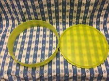 Tupperware NEW Round Cake Pie Stackable Set Margarita Lime Green Dessert Cookies