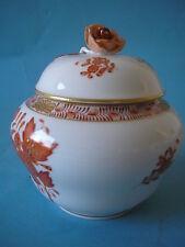 Herend Apponyi Orange tapa lata eventualmente azucarera 11cm alta mano pintado