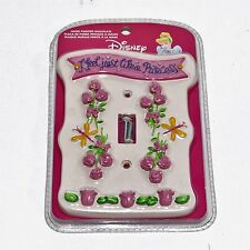 Disney Hand Painted Wallplate Princess Single Switch Wall Pink Girls Bedroom New