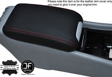 RED STITCHING LEATHER ARMREST COVER FITS MERCEDES C CLASS W203 2001-2007