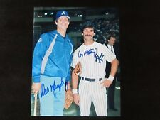 Don Mattingly & Dale Murphy Autograph / Signed 8 x 10 photo New York Yankees