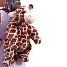 """Backpack Toddler 16"""" Plush Giraffe Girl Boy NEW"""