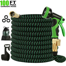 Garden Hose 100 feet Expandable Green Lightweight Heavy Duty Flexible Water Hose